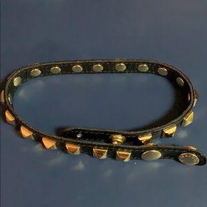 Rebecca Minkoff Gold Studded Double Wrap Bracelet